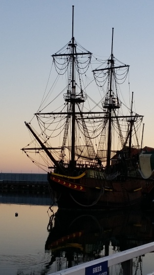 and a pirate ship!
