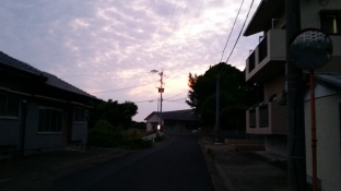 The sunset from my house