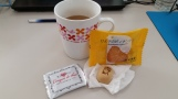 Omiyage at my desk when I returned to school!
