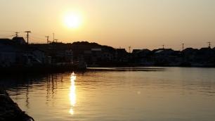 sunset at Katsumoto Port