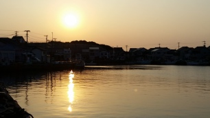 sunset at Katsumoto Port