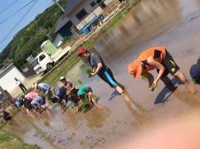 we signed up for sake rice planting in Katsumoto!