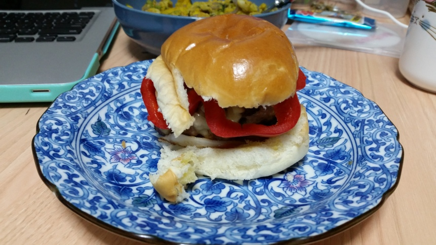 my own hand made burgers!