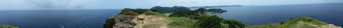 Panorama of the highest point on Dragon island! On a clear day you can see the island Tsushima!