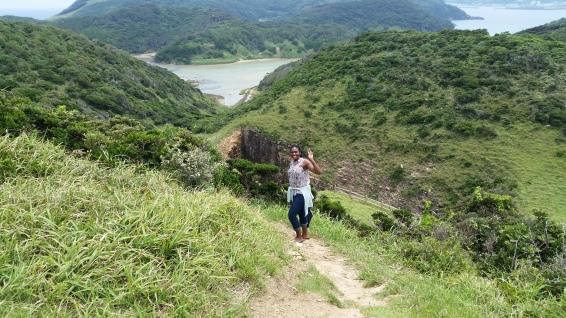Hiking in the awful heat on tatsunoshima!