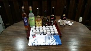 Shochu tasting at the distillery!