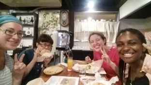 Yay! dinner at java with Jessica and friends!