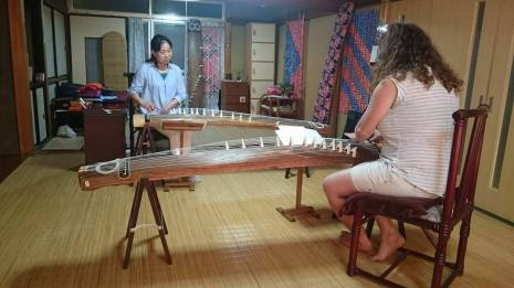 Koto lesson with my sensei Maeda san! You're the best! I love our half English Japanese lessons!! somehow we get through!